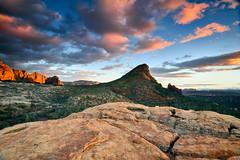The Fin under Arizona's Big Sky (David Shield Photography) Tags: sedona arizona southwest thefin landscape sky clouds sunset canyon color light nikon redrocksecretmtwilderness