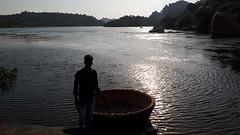 PSX_20181021_200054 (durgasravani) Tags: silhouette sunset landscape lake people boatman