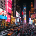 Milling around Time Square at Night - Manhattan
