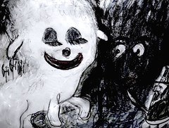 The Merry Return (giveawayboy) Tags: pencil eraser erasure water crayon charcoal drawing sketch acrylic paint painting art fch tampa artist giveawayboy billrogers merry return