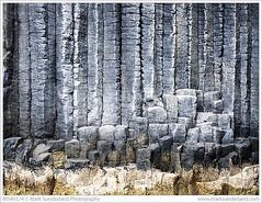 Basalt Columns on Staffa (© Mark Sunderland www.marksunderland.com) Tags: argyllandbute basalt basaltcolumns britain britishisles europe gb geology greatbritain island landscape nationaltrustofscotland rockformation rocks scotland staffa travel uk unitedkingdom westcoast abstract geometric pattern parallel lines texture