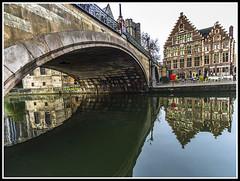 Paseando por Bélgica (edomingo) Tags: edomingo olympusomdem10 mzuiko918 gante bélgica canales reflejos ríolys paisesbajos