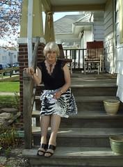 The Girl Next Door, That's All (Laurette Victoria) Tags: skirt porch laurette blonde woman necklace