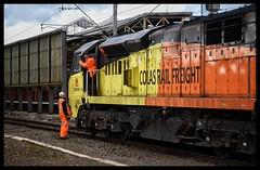 70805 (Lewis_Hurley) Tags: westcoastmainline wcml cheshire england uk crewe swap people driver colasrail colas 0c20 lightengine diesel railway train locomotive loco 70805 class70 70