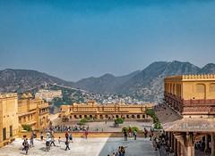 Amer Fort, Jaipur (Julie H. Ferguson (Photos by Pharos)) Tags: travel india rajasthan jaipur amberfort courtyards mountain city