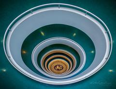 Up and down the stairs (Karsten Gieselmann) Tags: 714mmf28 architektur em5markii exposurefusion farbe germany grün mzuiko microfourthirds olympus treppe versmannhaus architecture color green kgiesel m43 mft staircase stairs hamburg deutschland