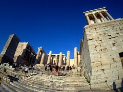 Entrance to the Acropolis (routemates) Tags: europe athens greece antiquity mediterranean acropolis lycabetus parthenon