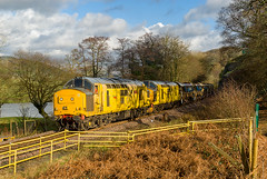 97304, 97303, 6C70, Machynlleth (welsh snapper) Tags: 97304 97303 6c70 ballast ballasttrain autoballaster autoballasters engineeringworks trackreplacement networkrail train dieseltrain dieseltrains dieselengine dieselengines engine engines dieselloco diesellocos diesellocomotive diesellocomotives loco locomotives machynlleth powys wales