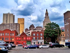 Hartford Connecticut - Downtown Skyline - Vintage - Travelers Tower (Onasill ~ Bill Badzo - 62 Million - Thank You) Tags: hartford ct connecticut county insurance capital travelers towers court house main st old state courthouse downtown skyline clouds onasill travel visitors historical nrhp historic buildings district us america american usa outdoor sky