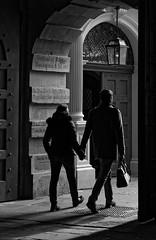 Carrying her bag (picsessionphotoarts) Tags: lightandshades lichtundschatten blackandwhite bw bayern bavaria deutschland germany franken franconia nikon nikonphotography nikonfotografie nikond850 festbrennweite primelens streetportrait downtown afsnikkor85mmf18g streetphotography moments snapshot schnappschuss unterfranken würzburg blackandwhitestreetphotography