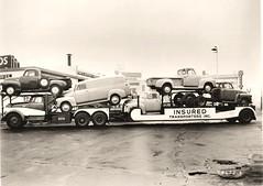 GMC D653-47: Insured Transporters (PAcarhauler) Tags: carcarrier semi truck trailer tractor