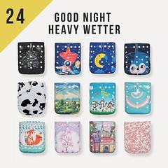 24 KaWaii Baby One Size Good Night Heavy Wetter Cloth Diapers + 48 Inserts (kawaiibabydiapers) Tags: kawaiibaby diapers baby