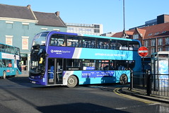 ANE 7544 @ Newcastle-upon-Tyne Eldon Square/Haymarket bus station (ianjpoole) Tags: arriva north east alexander dennis enviro 400mmc yx17nnr 7544 working sapphire route x22 newcastleupontyne haymarket bus station ashington