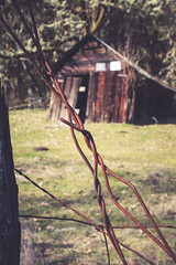 I had a bit too much fun playing near an old favorite barn! I love rusty metal. (Twilight Star Photography) Tags: aged antiquated antique classic dated metal old rust rusted rustymetal rustywire vintage weathered roseburg oregon usa