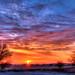 1/2 Winter Sunrise over Iowa Falls, Iowa 12-25-18