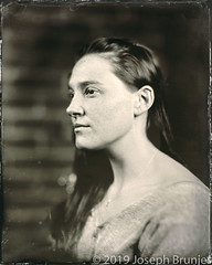 L. (Joseph Brunjes) Tags: wetplate collodion tintype portrait woman profile chamonix 8x10 largeformat joseph brunjes © 2019