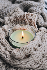 421C2725 (millenks) Tags: knitted candle candles home hygge cozy warm macro
