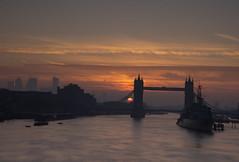 Beginning of a new day - Tower Bridge (ibn_sina001) Tags: towerbridge riverthames sunrise hmsbelfast sky london