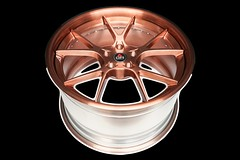 3-piece-project-6gr-10-ten-copper-finish-07 (PROJECT6GR_WHEELS) Tags: project 6gr full forged 3piece 10ten 10 spoke brushed candy copper ford mustang gt350 gt dodge charger challenger wheels wheel rim rims tires