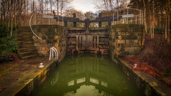 Lock... (Lee Harris Photography) Tags: lock canal stone structure industry water reflection outdoor foliage landscape architecture yorkshire colourful contrast