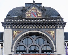 Belle Epoque architacture in La Bourboule - The Casino (Sokleine) Tags: casino décorarchitectural architecturedetails architecture belleépoque ceramics tiles émaux labourboule 63150 63 puydedome autriche heritage france frenchheritage