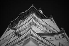 Osaka Castle (Hideki-I) Tags: castle osakacastle osaka japan nikon d850 2470 monochrome bw blackandwhite 白黒 黑白 大阪 日本 城