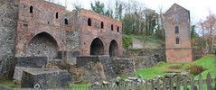 Blast furnaces at Blist Hill (jpotto) Tags: uk shropshire ironbridge blisthill museum industrialarchaeology buildings blastfurnaces ironfurnaces furnaces panoramic