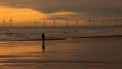 Aberdeen Wind Farm (PeskyMesky) Tags: aberdeen windfarm newburgh newburghbeach scotland sunrise sunset water sea ocean beach landscape canon canon5d eos