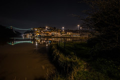 High water springs........... (Dafydd Penguin) Tags: high water springs sea tide tidal hw river gorge bridge lock dock port harbour harbor quay light reflection night shots nighthawks hawks slow shutter speed long exposure tripod explore scene pano panorama cityscape city town historic floating avon bristol clifton cumberland basin brunel suspension stars sunstars sun leica m10 voigtlander 15mm super wide heliar f45 asph