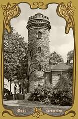Gera Ferberturm (zimmermann8821) Tags: fotografie fotografiekoloriert gruskarte postkarte urlaubsgrus sommer 07546gera geraostthüringen turm ferberturm anhöhe aussichtsturm berg baum gebüsch gras strauch