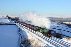 61306 + 35018 Greengate 2/2/19 (Ram 69) Tags: 61306 35018 thewintercumbrianmountainexpress mayflower britishindialine 1z87 greengate sc settletocarlislerailwaysun steam snow railway