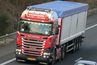 Scania R520 V8 Transports Verboon (NL).
