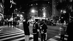 Nanjing (Josh Khaw) Tags: street crossing youth lights night fashion streetwear china nanjing city monochrome black white traffic urban