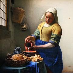 Johannes Vermeer. The Kitchen Maid (Milkmaid). c.1658. detail (arthistory390) Tags: rijksmuseum