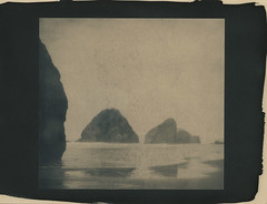 rocks reflected (lawatt) Tags: oregon coast rocks ocean altprocess cyanotype wares toned hahnemuhleplatinumrag