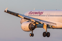 Hamburg Airport: Eurowings Airbus A320-214 A320 D-ABHC (kevin.hackert) Tags: eos6dmarkii jets deutschland aviationphotography planespotters flugzeuge flughafenfuhlsbüttel ham hamburgairporthelmutschmidt planespotting sonnenuntergang canon planepictures flugzeug de luftfahrt hamburg flughafen flieger aviation planelovers apron hamburgairport aircraft spotter aviationdaily eddh sunset vorfeld