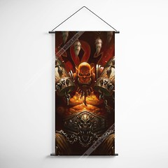WOW - World of Warcraft 02 Orgrim Doomhammer Decorative Banner Flag for Gamers (gamewallart) Tags: background banner billboard blank business concept concrete design empty gallery marketing mock mockup poster template up wall vertical canvas white blue hanging clear display media sign commercial publicity board advertising space message wood texture textured material wallpaper abstract grunge pattern nobody panel structure surface textur print row ad interior