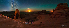 The Magical Moment (Mike Berenson - Colorado Captures) Tags: airglow arches archesnationalpark delicate delicatearch delicatepit instruction lightpollution lowlevellighting milkyway moab moon moonlight moonset nationalpark nature night nightscape panorama park sky stars utah water workshop unitedstatesofamerica us
