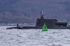 Royal Navy nuclear attack submarine HMS Astute, S119 (SSN); Loch Long, Scotland (Michael Leek Photography) Tags: submarine nuclear nuclearsubmarine attacksubmarine astuteclass faslane hmnbclyde hmnb hmsneptune gareloch firthofclyde westcoastofscotland westernscotland argyllandbute argyll rn royalnavy britainsarmedforces britainsnavy warship navalvessel nato specialforces rm royalmarines sbs closeup holyloch michaelleek michaelleekphotography