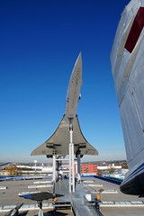 Concorde seen from Tu-144 (The-Beauty-Of-Nature) Tags: mine photography original museum technikmuseum sinsheim technology aircraft airplane engineering machine old concorde supersonic airfrance