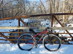 Accotink Creek (mcfeelion) Tags: snow snowride cycling bike bicycle cct crosscountytrail annandaleva wakefieldpark winter