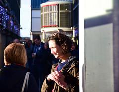 Leaning Post (Bury Gardener) Tags: 2018 nikond7200 nikon england eastanglia uk people peoplewatching folks suffolk streetphotography street streetcandids snaps strangers candid candids britain burystedmunds arc thearc