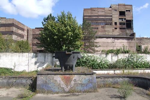 Ore bucket at the abandoned square near Zestafoni Ferroalloy Plant, 10.09.2013.