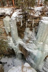 Ice in Maligne Canyon in Jasper, Alberta (steveboer.com) Tags: ice canyon maligne jasper alberta canada snow water waterfall nature winter frost icicle outdoors rock tree stream landscape outdoor cold freezing formation frozen creek mountain