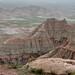 Layers and Colors of Badlands at Big Badlands Overlook (Badlands National Park)