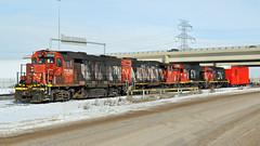IMG_1165A CN 7526 (Colin Arnot) Tags: railroad railway locomotive boxcar distributedairbrakecar cn canadiannational cloverbar edmonton cn0039 emd gmd cn7526 gp382w cn4757 7261 gp382 cn7503 gp9rm cn7261