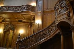 elegant interior (Hayashina) Tags: ukraine lviv railing fence wooden carving staircase hff
