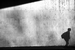 Goodbye boy ... (jaume zamorano) Tags: blackandwhite blancoynegro blackwhite blackandwhitephotography blackandwhitephoto bw d5500 lleida monochrome monocromo muro minimalism nikon noiretblanc nikonistas pov people street streetphotography streetphoto streetphotoblackandwhite streetphotograph urban urbana wall shadow
