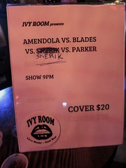 Ivy Room show sign (michaelz1) Tags: livemusic ivyroom albanyamendola vs blades skerik parker
