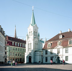 Riga (nikolaijan) Tags: yashica 124g yashicamat kodak portra160nc riga latvia film 120 6x6